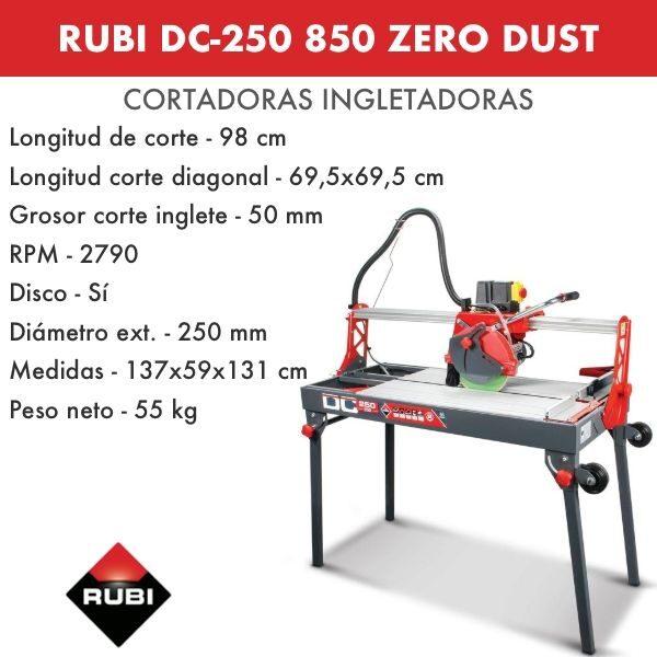 Cortadora Rubi DC-250 850 Zero Dust