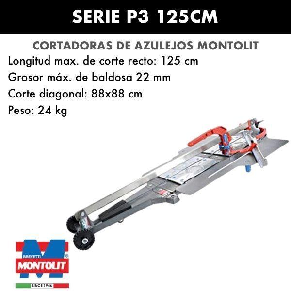 Cortadora de azulejos Montolit Masterpiuma Serie P3 125 cm