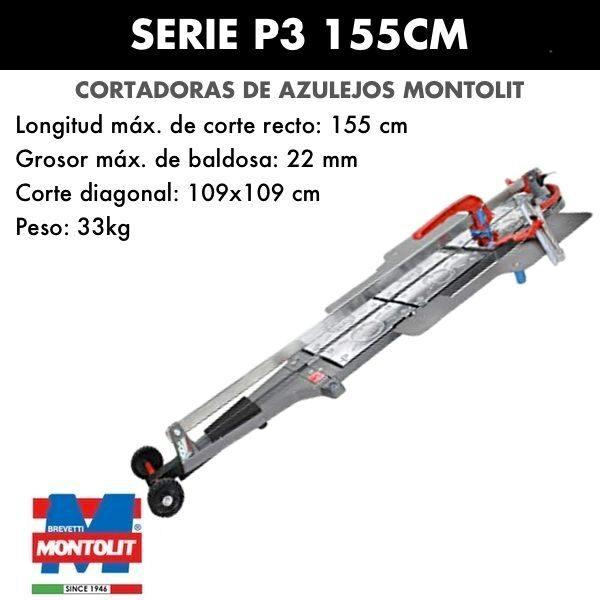 Cortadora de azulejos Montolit Masterpiuma Serie P3 155 cm