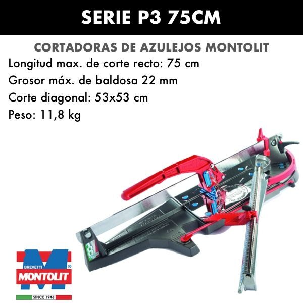 Cortadora de azulejos Montolit Masterpiuma Serie P3 75 cm