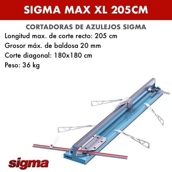 Cortadora de azulejos Sigma XL 205cm