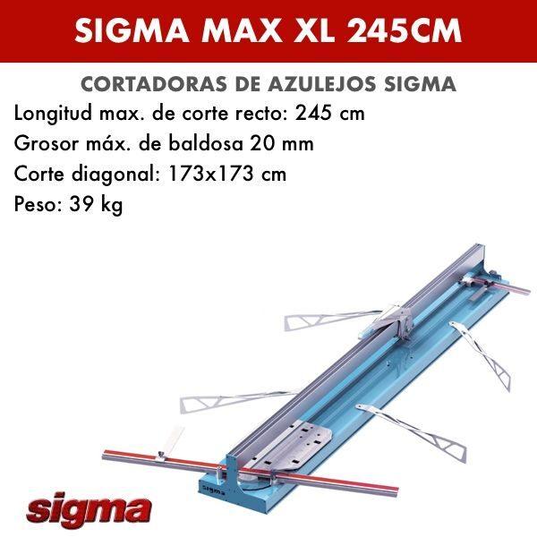 Cortadora de azulejos Sigma XL 245cm