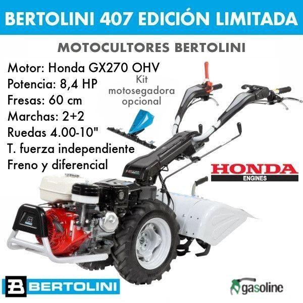 Motocultor Bertolini 407S Edición limitada