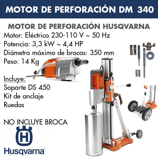 Motor de perforación DM 340 + DS 450 + Kit Anclaje + Ruedas