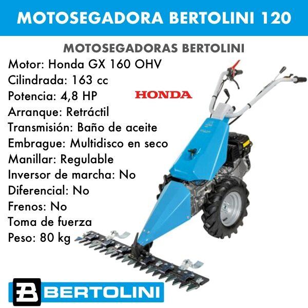 Motosegadora Bertolini 120 Motor Honda GX160 OHV