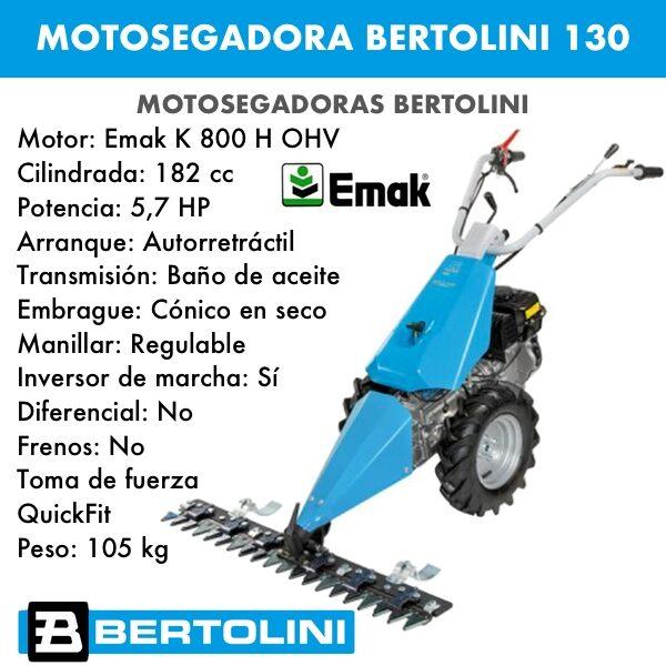 Motosegadora Bertolini 130 motor emak