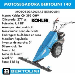 Motosegadora Bertolini 140 Motor kohler ch 395 ohv