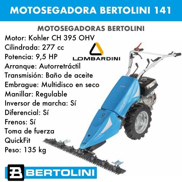 Motosegadora Bertolini 141 Motor Lombardini 15LD350 349cc