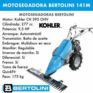 Motosegadora Bertolini 141M Kohler CH 395 OHV 277cc