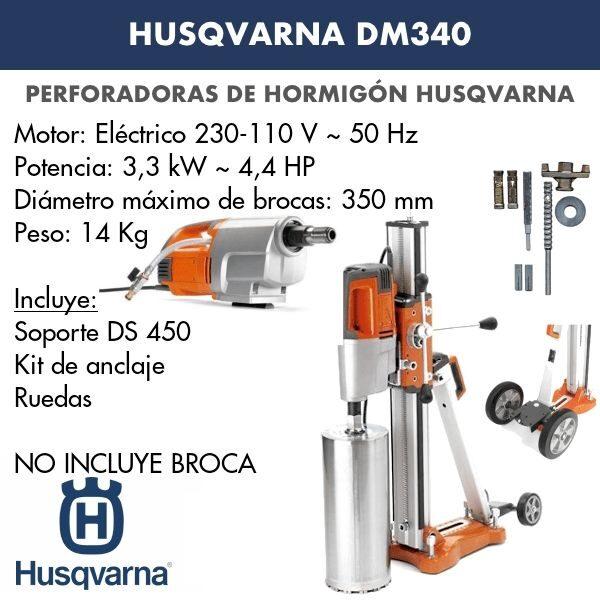 Perforadora de hormigón Husqvarna DM 340