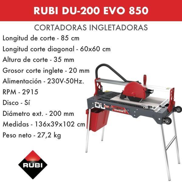 RUBI DU-200 EVO 850