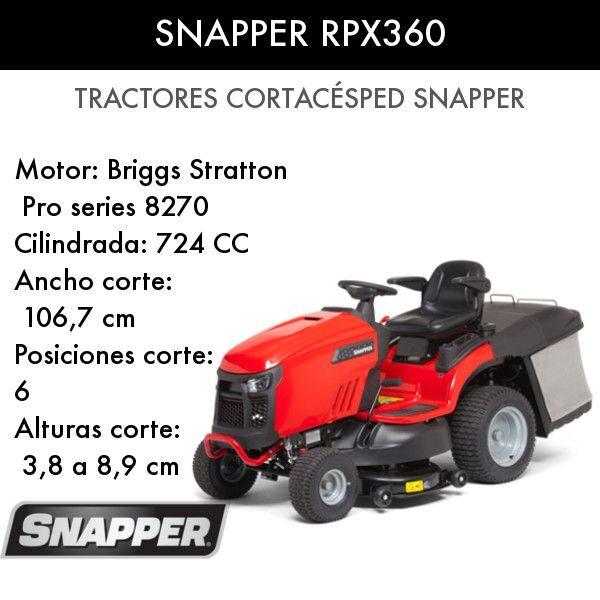 Tractor cortacésped Snapper RPX360