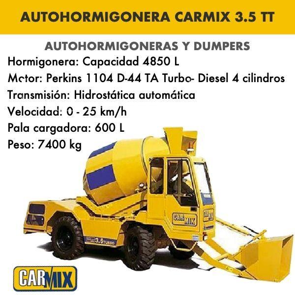 Autohormigonera Carmix 3.5 TT