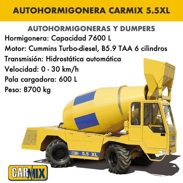 Autohormigonera Carmix 5.5 XL
