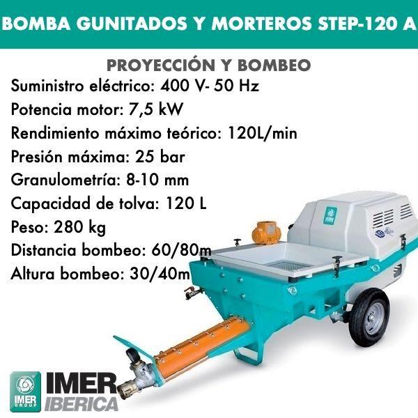 Bomba para gunitados y morteros autonivelantes STEP-120 A