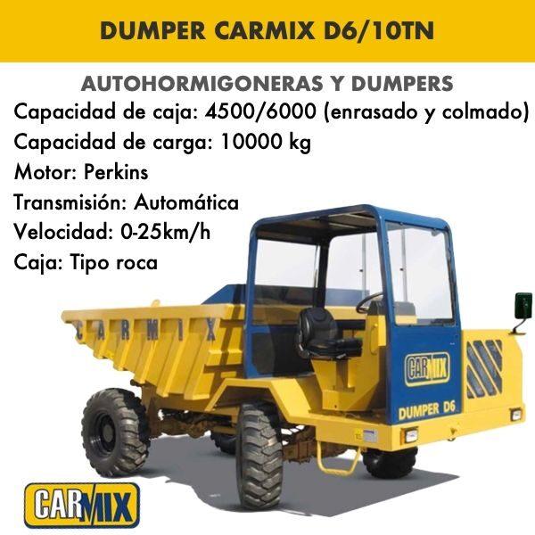 DUMPER CARMIX MODELO D6 : 10 TN