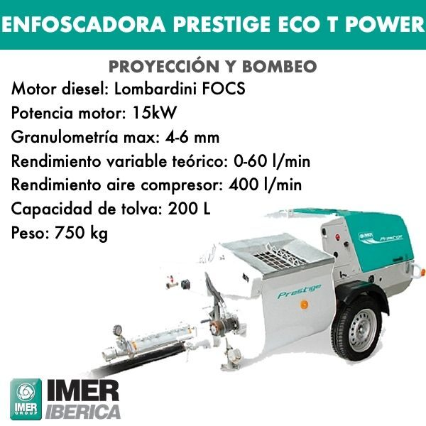 Enfoscadora Prestige ECO T Power