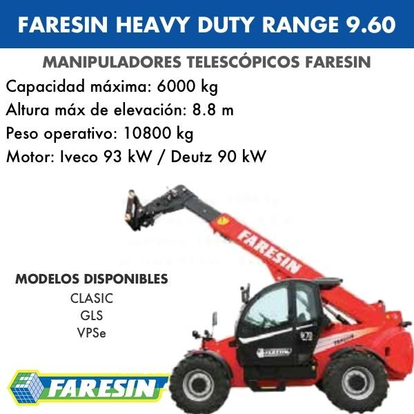FARESIN HEAVY DUTY RANGE 9.60