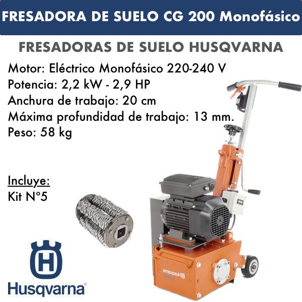Fresadora de suelo CG 200 Eléctrica