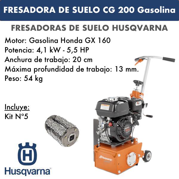 Fresadora de suelo CG 200 Gasolina
