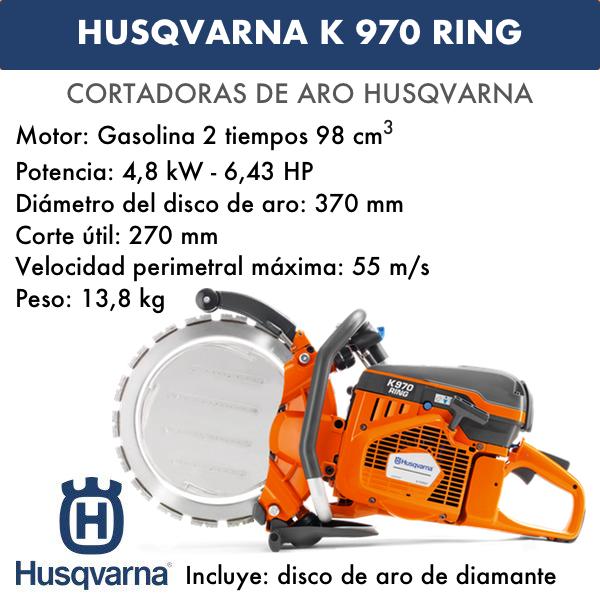 Husqvarna Cortadora de Aro K 970 Ring