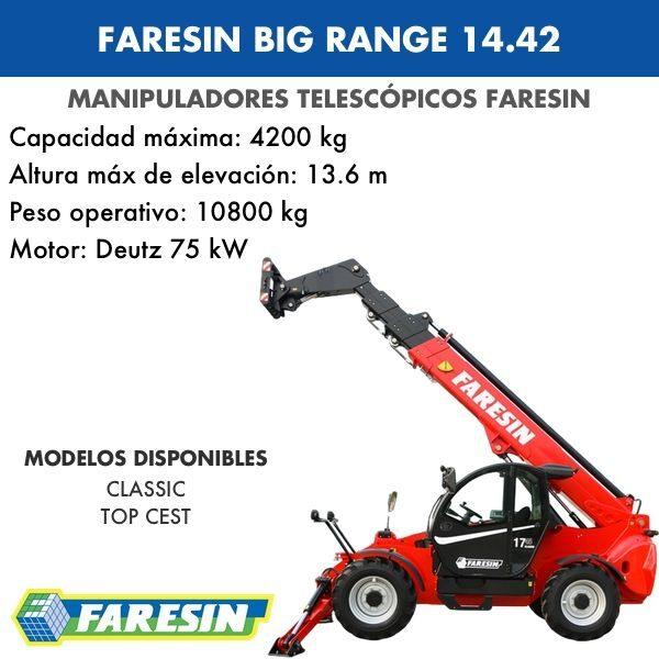 Manipulador Telescópico Faresin Big Range 14.42