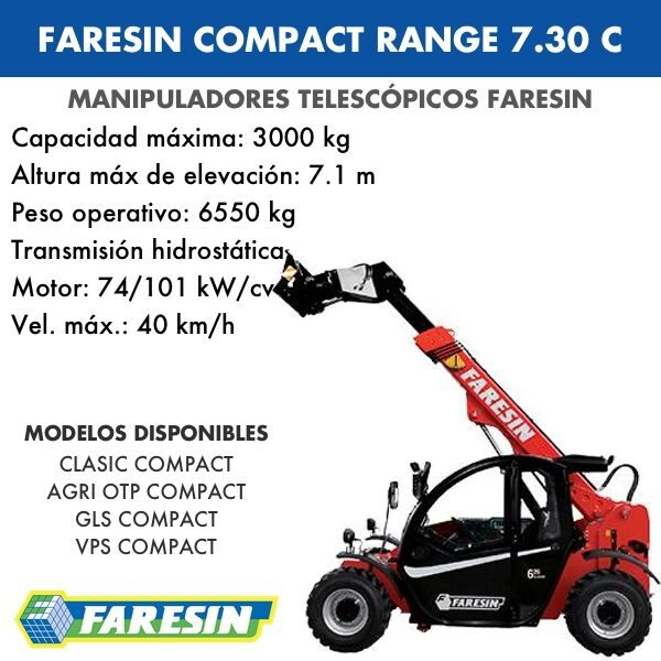 Manipulador Telescópico Faresin Compact Range 7.30 C