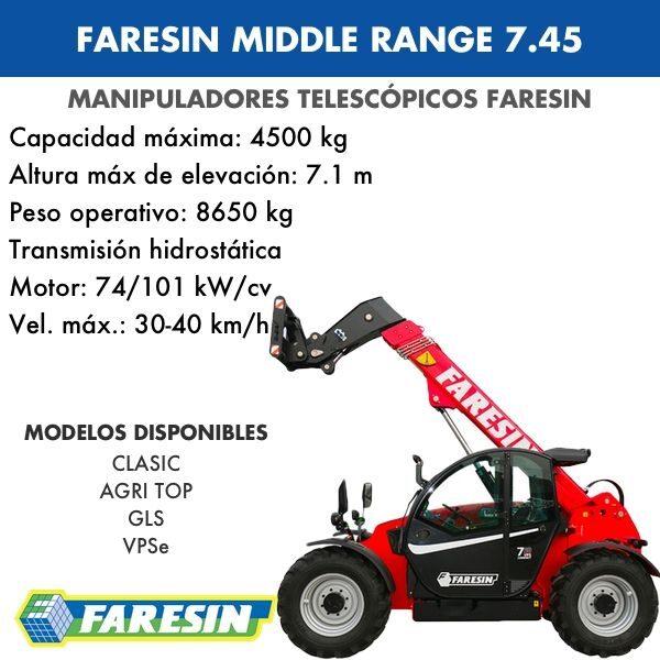 Manipulador Telescópico Faresin Middle Range 7.45