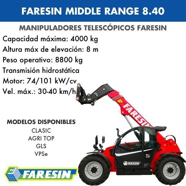 Manipulador Telescópico Faresin Middle Range 8.40