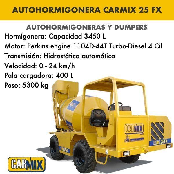 autohormigonera carmix 25 fx