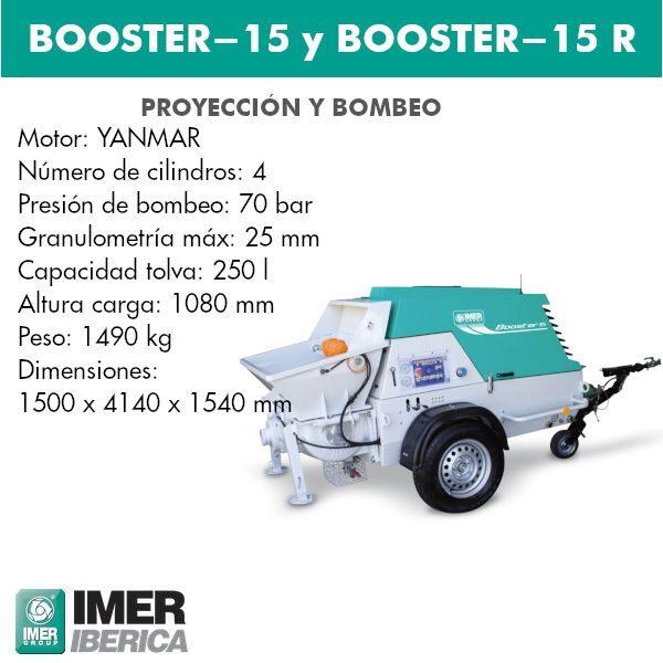 Bomba para hormigones Booster-15  y Booster-15 R