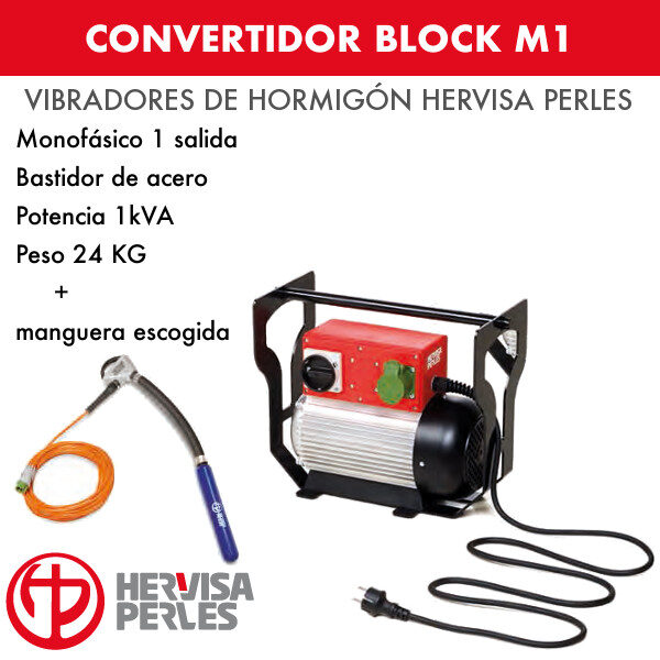 Convertidor monofásico Hervisa Perles Block M1 1 salida + aguja Ergo Premium