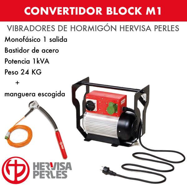 Convertidor monofásico Hervisa Perles Block M1 + aguja Ergo Standard