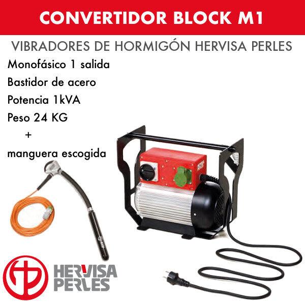 Convertidor monofásico Hervisa Perles Block M1 1 salida + aguja Ergo Turbo