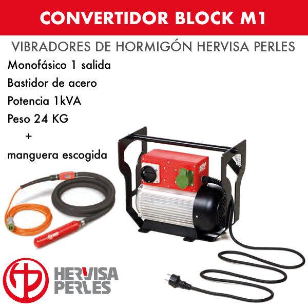 Convertidor monofásico Hervisa Perles Block M1 1 salida + aguja AV standard