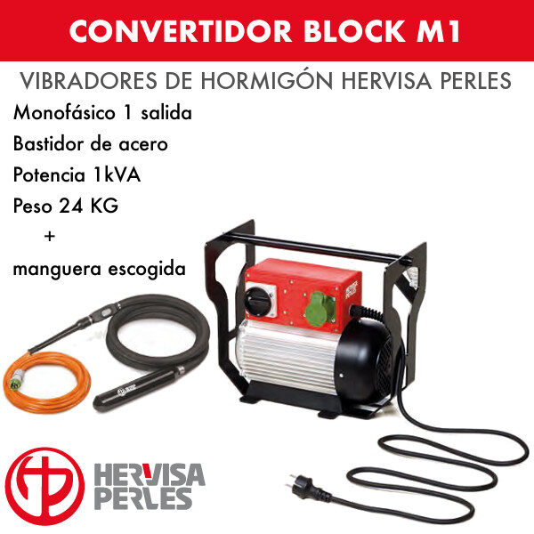 Convertidor monofásico Hervisa Perles Block M1 1 salida + aguja AV turbo