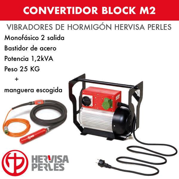 Convertidor monofásico Hervisa Perles Block M2 + aguja AV standard