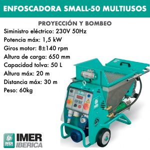 enfoscadora modelo small 50 multiusos