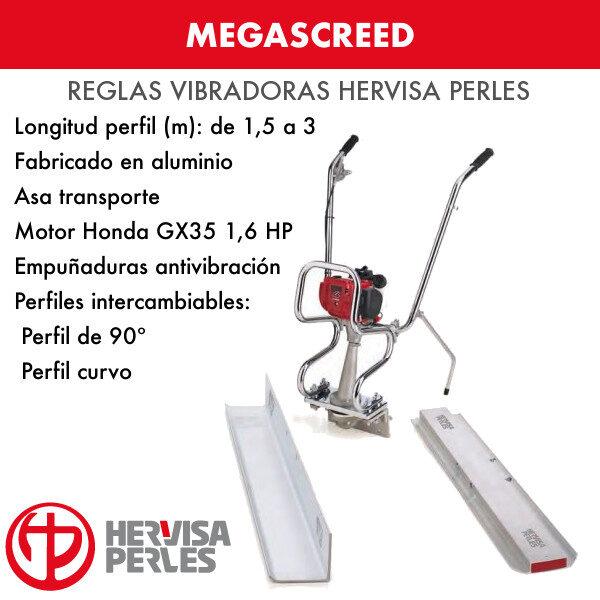 Vibrierendes Lineal Hervisa Perles Megascreed