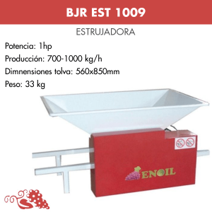 Estrujadora de uva pintada BJR EST 1009