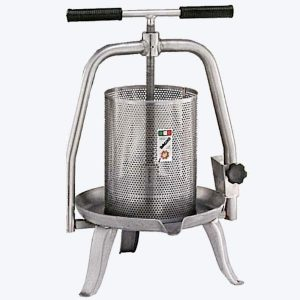 Prensa de vino manual de acero inoxidable V20