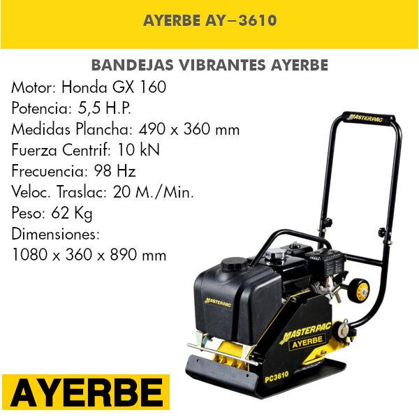Bandeja vibrante AYERBE AY-3610