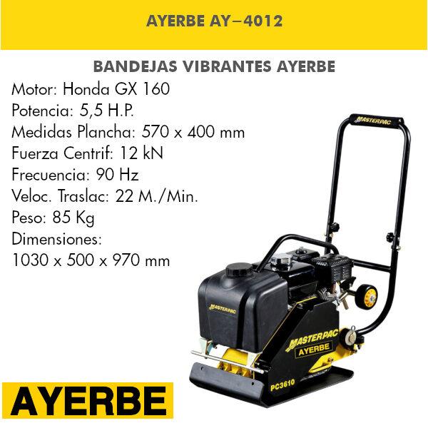 Bandeja vibrante AYERBE AY-4012