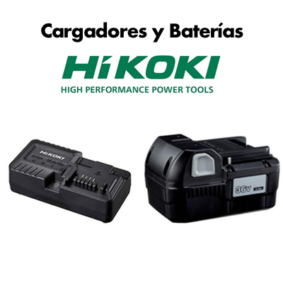 Cargadores y Baterías Hikoki (para gamas electroportátiles y de jardín)