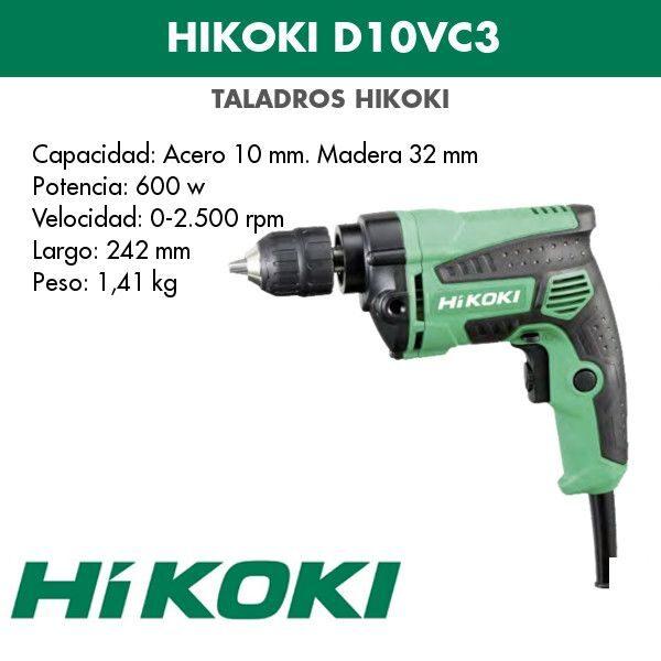 Taladro eléctrico Hikoki D10VC3 600w