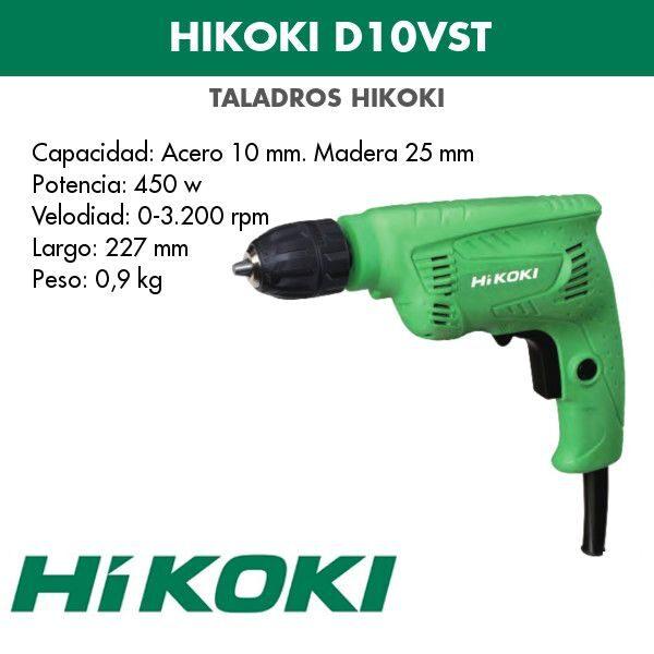 Taladro eléctrico Hikoki D10VST 450w