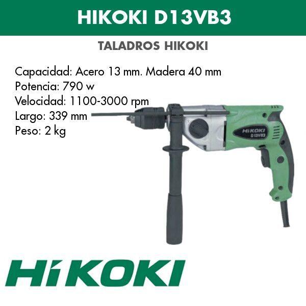 Taladro eléctrico Hikoki D13VL 860w