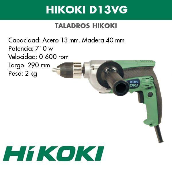 Taladro eléctrico Hikoki D13VG 710w