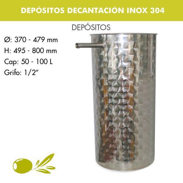 DEPÓSITOS DECANTACIÓN PARA ACEITE INOX 304