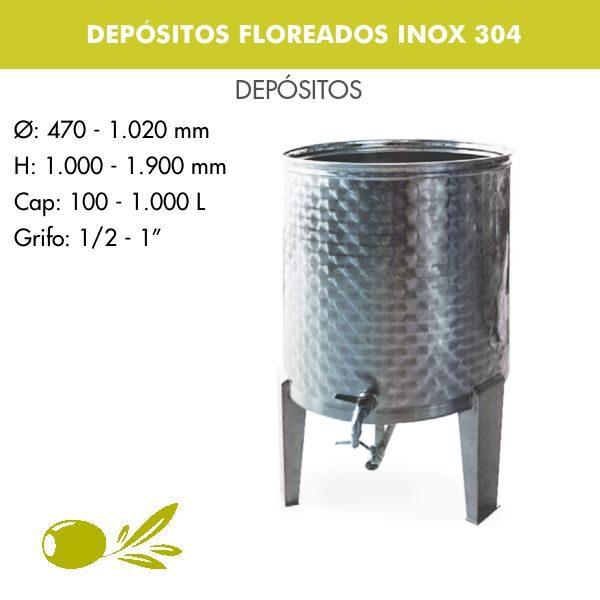 DEPÓSITOS FLOREADOS PARA ACEITE INOX 304 - 2
